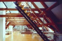 Sanierung einer Scheune zum Architektenbüro Strohmayr in Olbernhau (1995 im Planungsbüro Strohmyr Olbernhau)